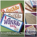 Wonka Bar Invitations